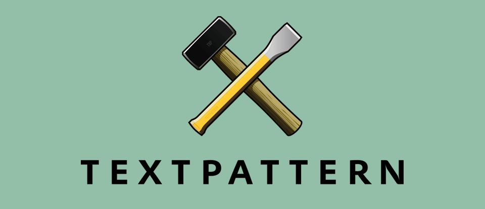 Het logo van Textpattern