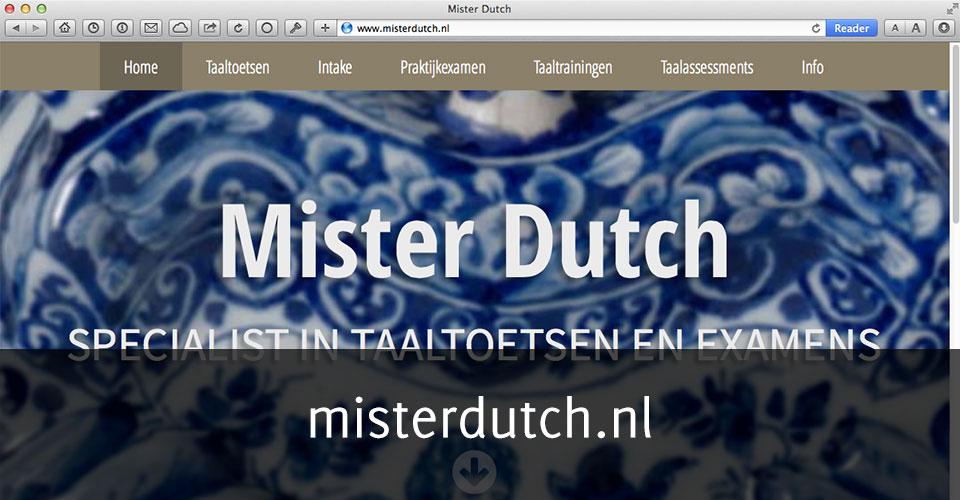 Homepage van misterdutch.nl