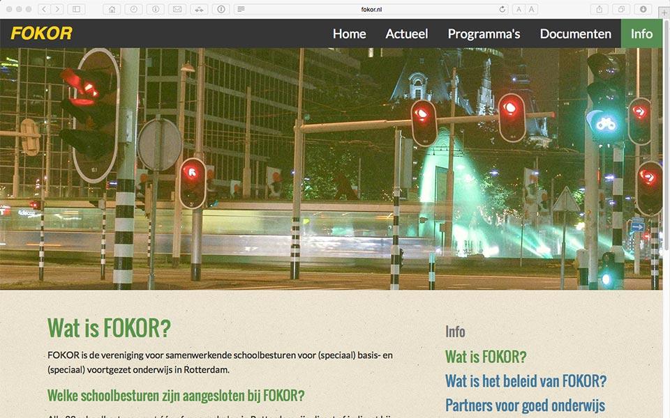 De nieuwe website van FOKOR