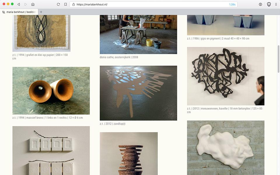 De nieuwe website van Maria Berkhout