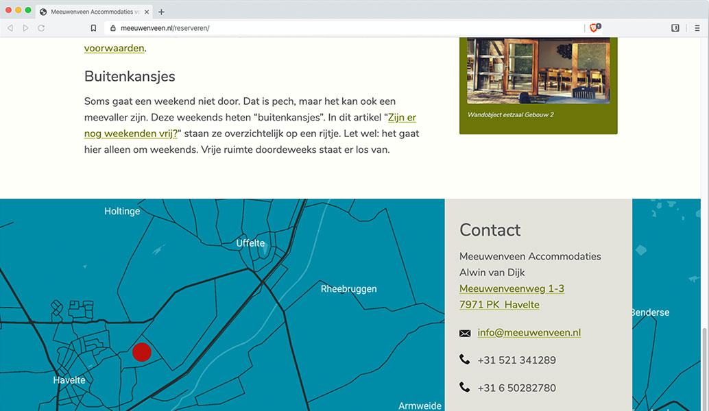screenshot webpagina meeuwenveen.nl