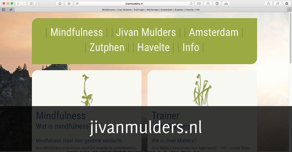 Screenshot van homepage jivanmulders.nl