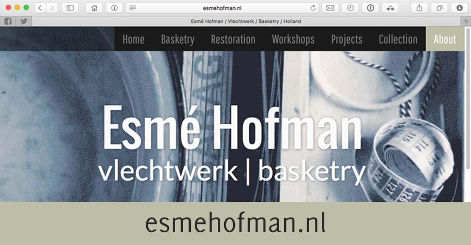 Screenshot van esmehofman.nl