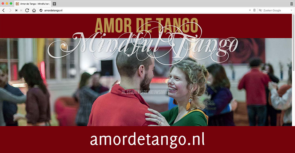 Screenshot van webpagina www.amordetango.nl