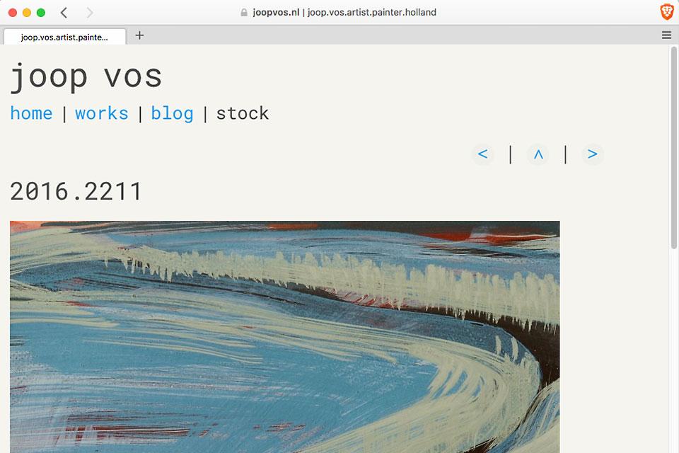 Een screenshot van een webpagina op joopvos.nl
