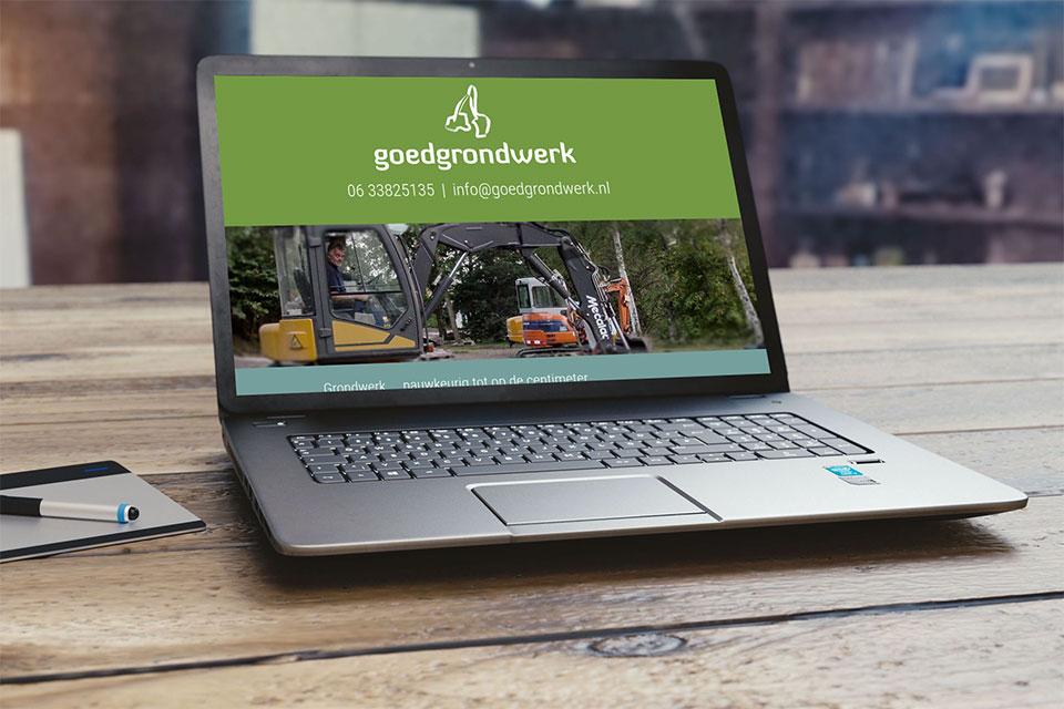 Een website op een laptop